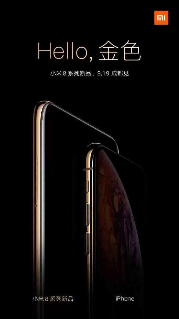 Edição Xiaomi Mi 8 Screen Fingerprint em Ouro