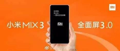 Xiaomi Mi Mix 3 será supostamente revelado em 15 de outubro