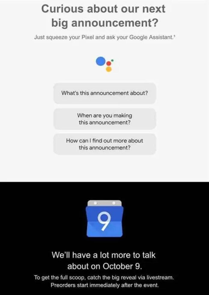 Google confirma que as pré-encomendas para o Pixel 3 começam após o evento 2