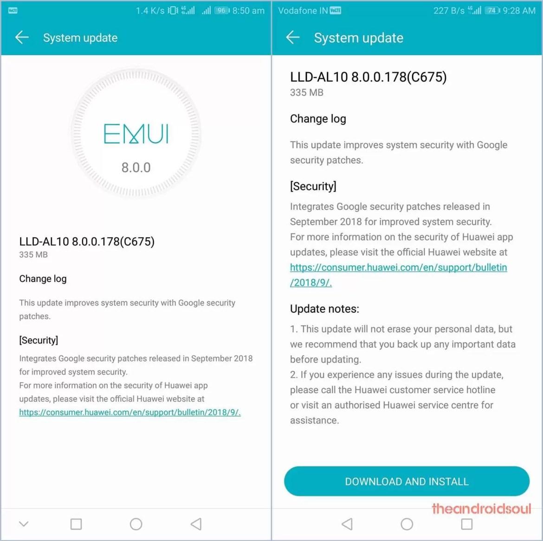 Huawei Honor 9 Lite recebe duas novas atualizações, ambas com patch de setembro 1