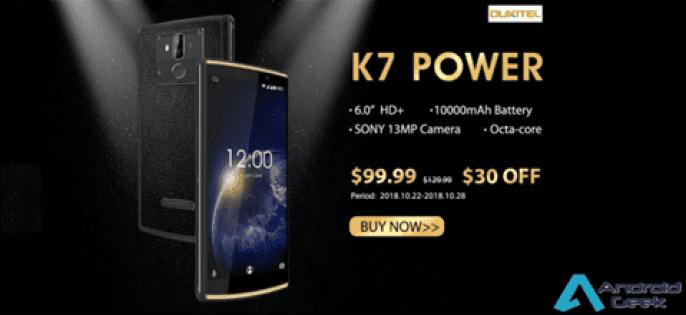 Mais barato Smartphone de 10000mAh, OUKITEL K7 Power começa a pré-venda por US $ 99,99 1
