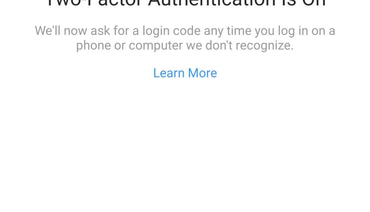 Autenticação de dois factores sem necessitarem de receber SMS chegou ao Instagram 2
