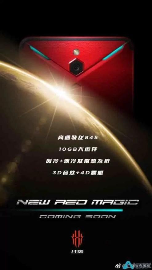 Nubia Red Magic 2 com 10 GB de RAM, SD845 e tecnologia de arrefecimento dual 1