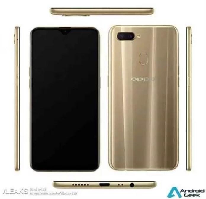 Oppo A7 Renders, especificações completas reveladas on-line, prevista para lançamento em 13 de novembro na China 2