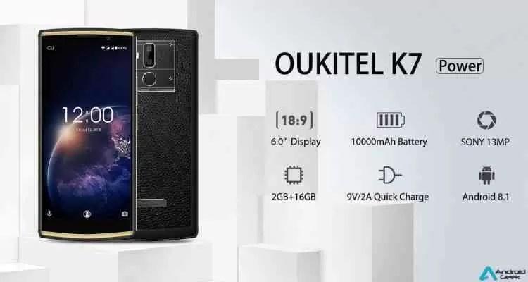 OUKITEL K7 Power 10000mAh de Bateria Maciça com Display Grande de 6 polegadas 1