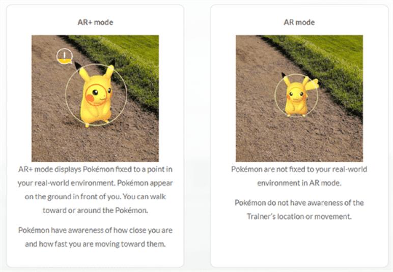 Pokemon GO para Android ganha modo AR + 3