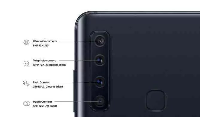 Samsung lança Galaxy A9 com quatro câmaras traseiras e até 8GB de RAM 1