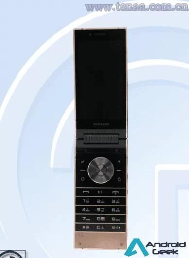 Samsung W2019 high-end Flip Phone com câmeras traseiras duplas passa na TENAA 4