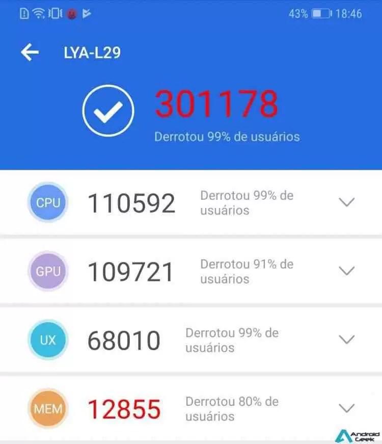 Resultados do Huawei Mate 20 Pro AnTuTu ultrapassam os 300 mil pontos 1