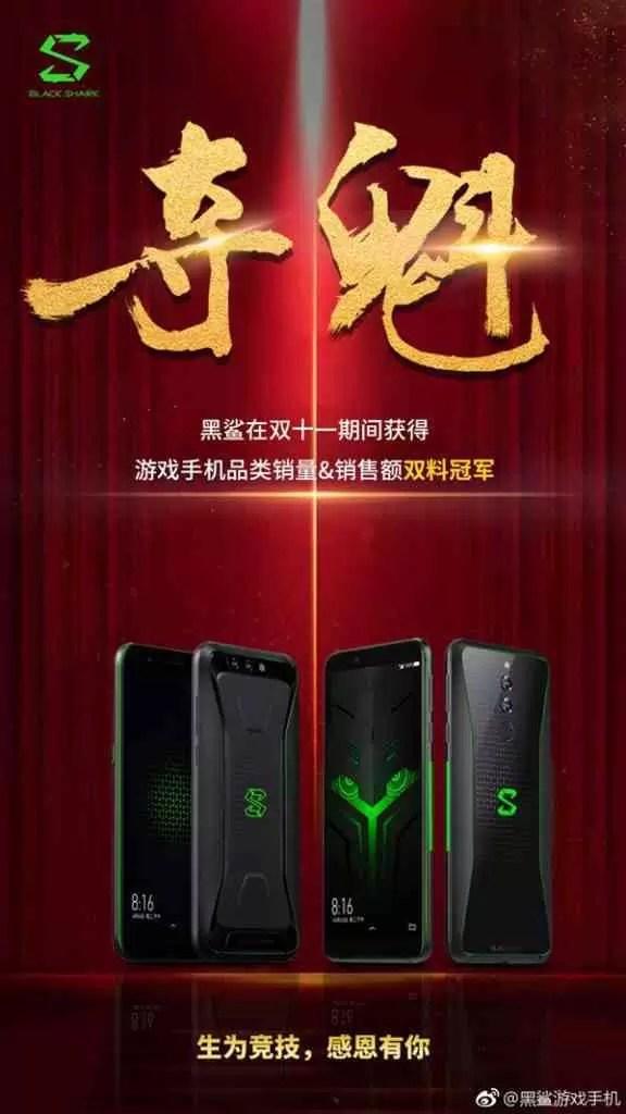 Black Shark da Xiaomi foi o campeão 11/11 em smartphones de jogos 1
