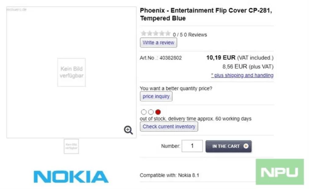 Case Nokia 8.1