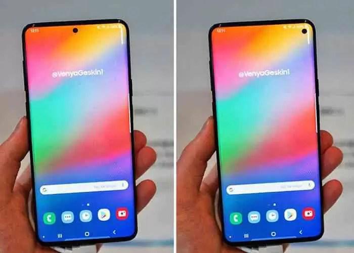 Isso seria parecido com o Samsung Galaxy S10 com buraco no ecrã