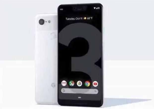 Pixel 3 claramente branco em destaque