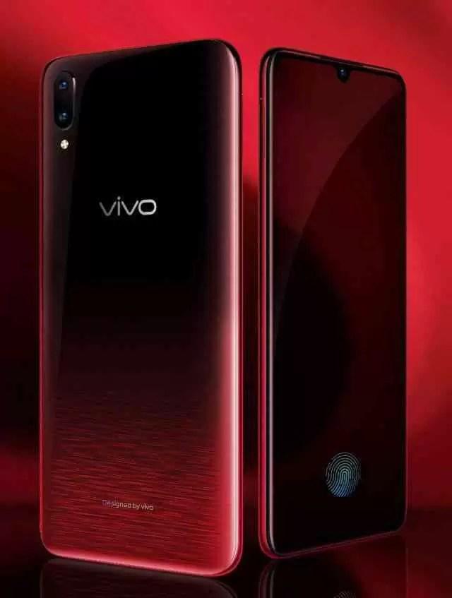 Vivo V11 Pro Supernova Vermelho render