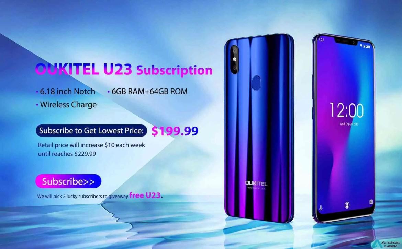 """OUKITEL U23 tem preço confirmado! Ecrã 6.18"""" e Wireless charge que pode ser vosso GRÁTIS 1"""