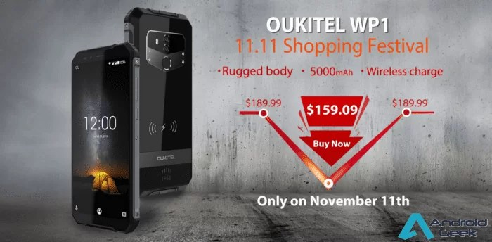OUKITEL WP1 em Unboxing revela um equipamento robusto com Wireless Charge que está a $159.09 na campanha 11.11 1