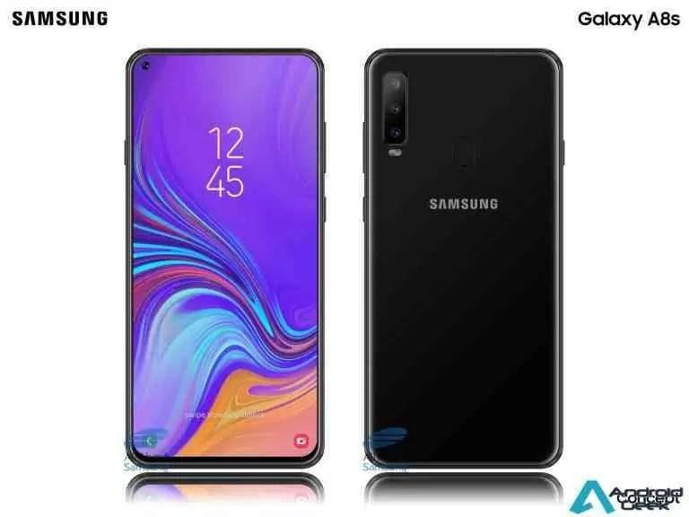 Renders realistas do Samsung Galaxy A8s mostram o seu ecrã Infinity-O 1