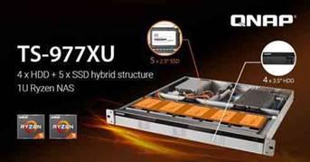 QNAP lança primeiro NAS de estrutura híbrida 1U 1