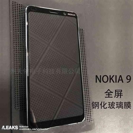 Parte superior frontal do Nokia 9 revelado nas primeiras fotos do telefone com 5 câmaras traseiras 1