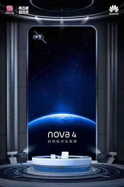 Novos teasers do Huawei Nova 4, revelam design antes do seu lançamento 5