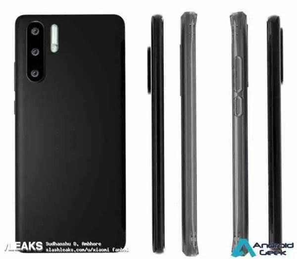 Capa protetora Huawei P30 / P30 Pro mostra design e revela segredos 4