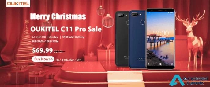 OUKITEL C11 Pro Christmas Sale Começa por apenas US $ 69,99, 3GB de RAM e 3400mAh de bateria 1