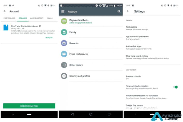 Actualização Google Play com nova interface lançada para Android 3