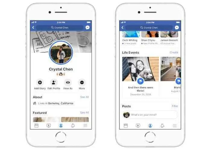 Facebook destaca eventos importantes no perfil do utilizador