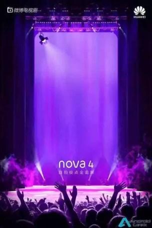 Novos teasers do Huawei Nova 4, revelam design antes do seu lançamento 7