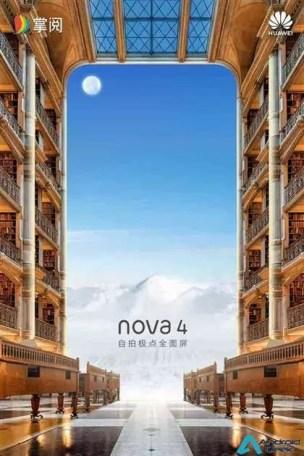 Novos teasers do Huawei Nova 4, revelam design antes do seu lançamento 4
