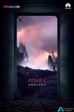 Novos teasers do Huawei Nova 4, revelam design antes do seu lançamento 1