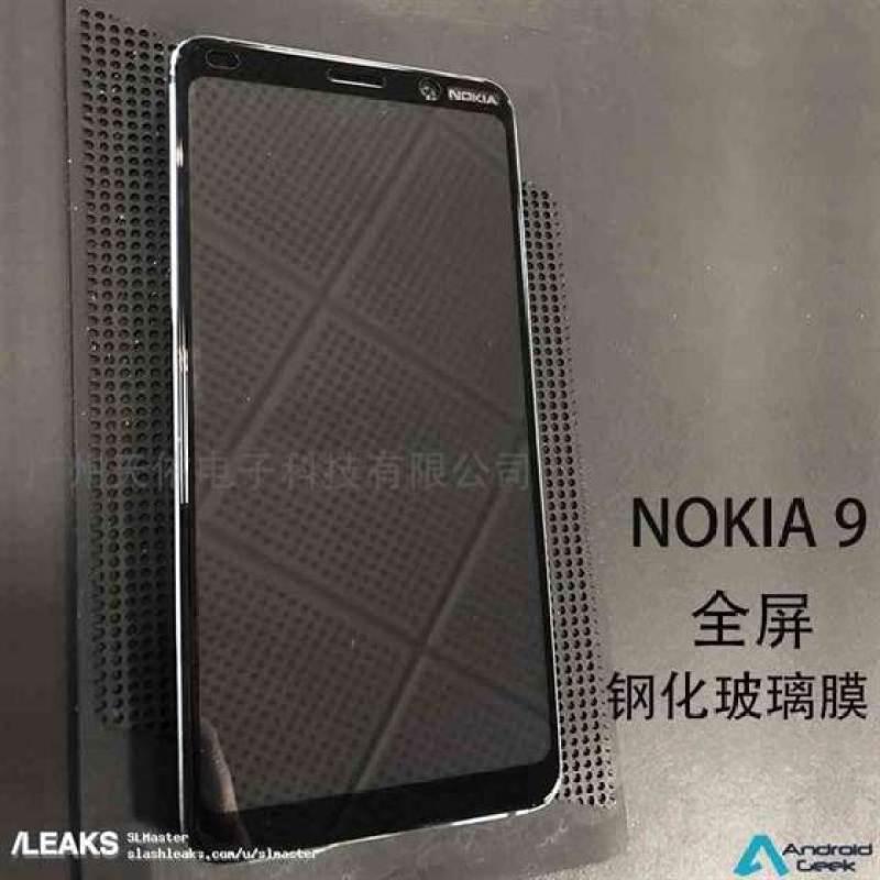 Leak Nokia: Parte superior frontal do Nokia 9 mostrada nas primeiras fotos ao vivo do telefone com câmara penta-lens 1