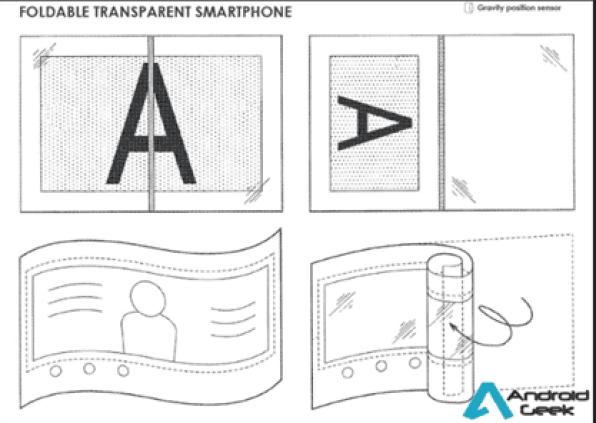 O smartphone dobrável da Sony pode ser.. transparente 2