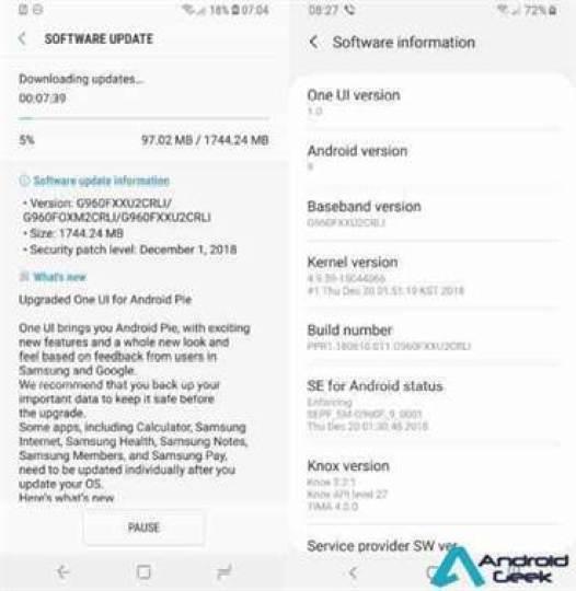 Samsung Galaxy S9 recebe finalmente Android Pie estável! 3