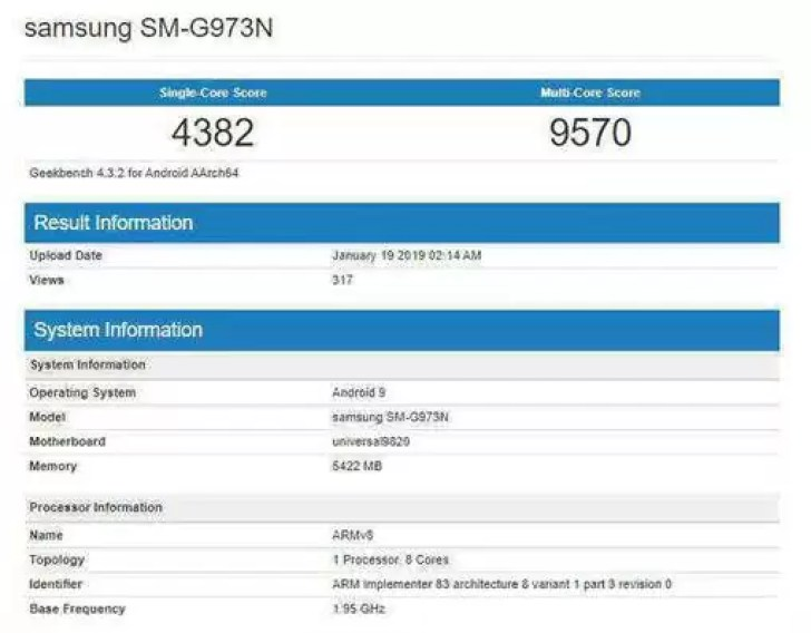 Galaxy S10 com Exynos visita o Geekbench e fica atrás do iPhone XS em teste single-core 1