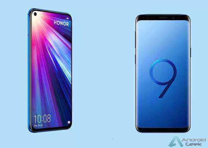 Honor View 20 VS Samsung Galaxy S9 Batalha de Especificações 1