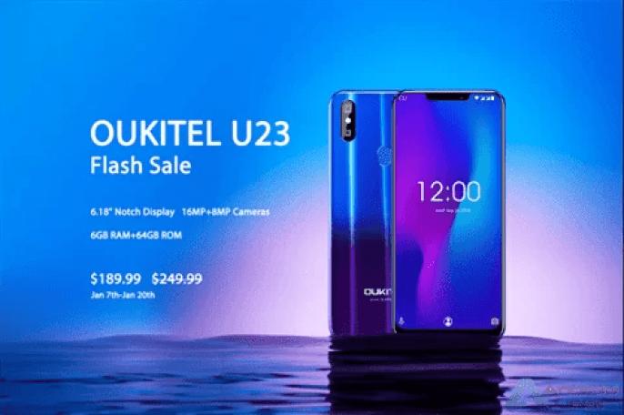 OUKITEL U23 Twilight em Open Flash Sale por apenas US $ 189,99 com 6GB de RAM e Helio P23 Soc 1
