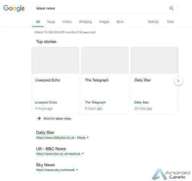 Isto é o que o Artigo 11 pode fazer ao Google na Europa 2