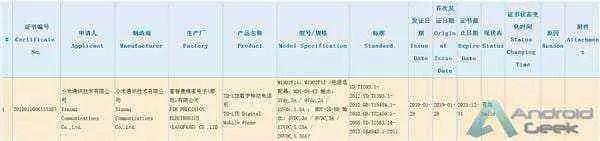 Alegado Xiaomi Mi 9 com 27W de carregamento rápido recebe certificação 3C 3