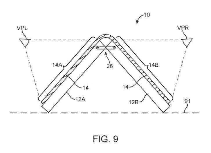 Patente do ecrã dobrável da Apple apresenta vários projetos interessantes 2