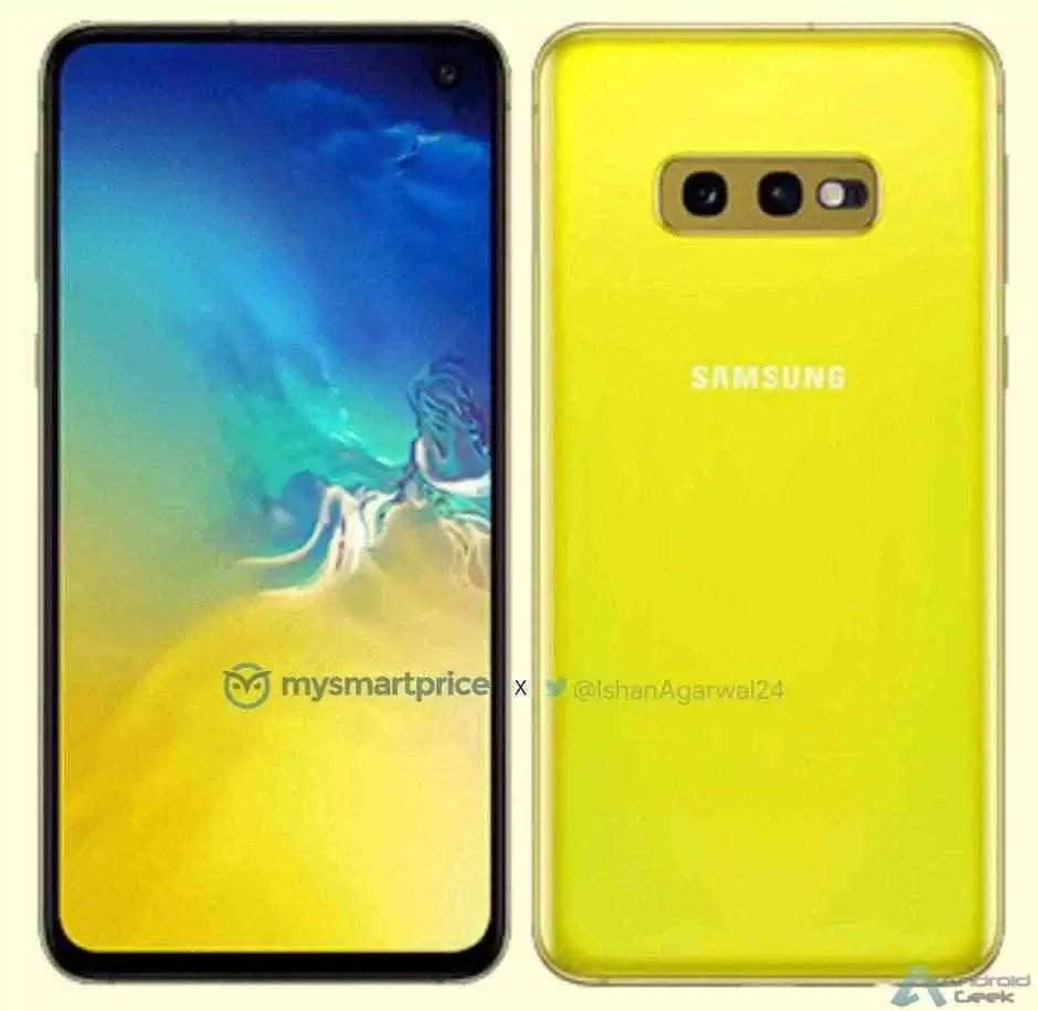 Samsung Galaxy S10e vem para atacar iPhone XR com uma cor amarela que queima os olhos! 1