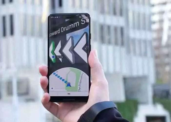 Realidade aumentada do Google Maps