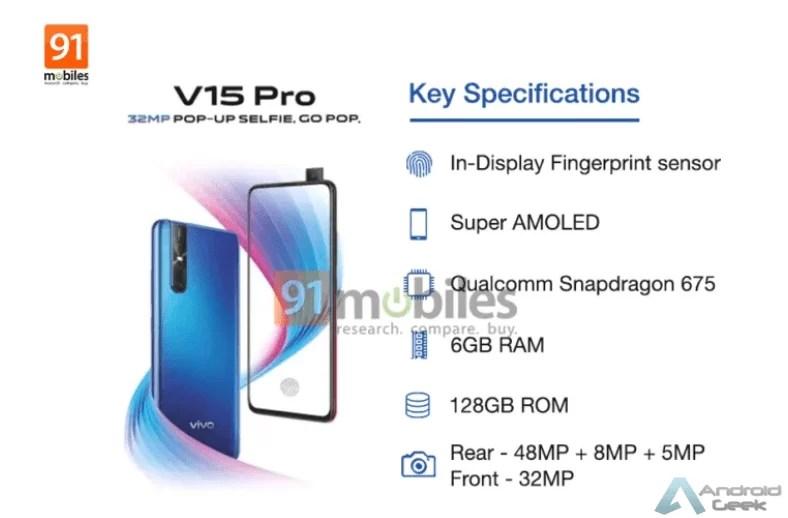 Vivo V15 Pro visto no Geekbench com SD 675 e 6GB de RAM 1