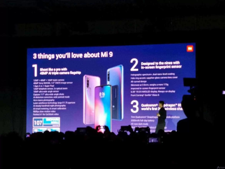 Xiaomi apresenta oficialmente o Xiaomi Mi 9 no MWC 2019 4