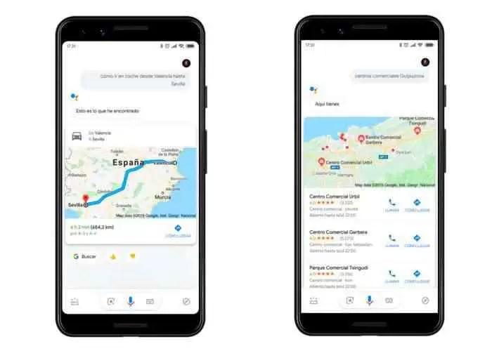 Direções Google assistant