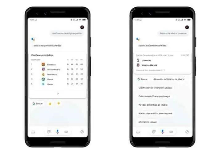 Google Assistant de desportos