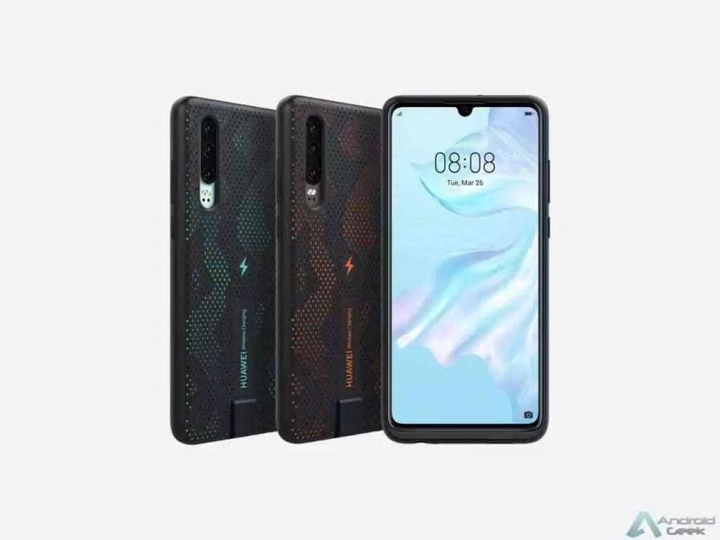 Huawei P30 terá carregamento sem fio através de uma capa especial de 10W com certificação Qi 2