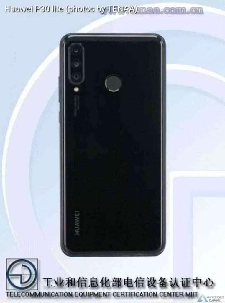 Novas fotos do Huawei P30 Lite mostram uma câmara tripla 1