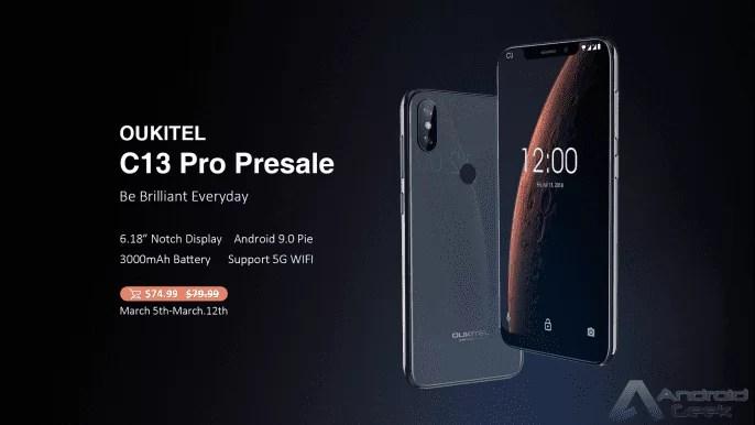 OUKITEL C13 Pro entra em pré-venda por US $ 74,99 com Notch Display e Android Pie 1