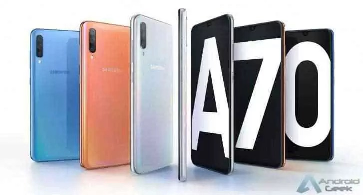 Samsung Galaxy A70 é oficial, traz câmaras frontais / traseiras de 32MP, carregamento super rápido e muito mais 1